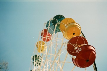 A film photo of the observation wheel