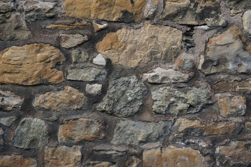 Rough stone wall horizontal background