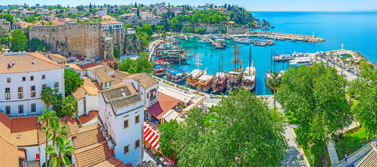 Aerial view of Antalya marina