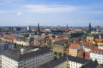 Copenhagen, Denmark - Panorama of the City on a Sunny Summer Day