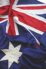 Close up of the Australian flag