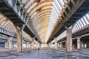 Abandoned factory as a result of the crisis