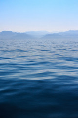 Ocean and hills