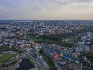 Aerial view panorama city Tallinn, Estonia.