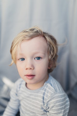 Portrait of a young blond boy.