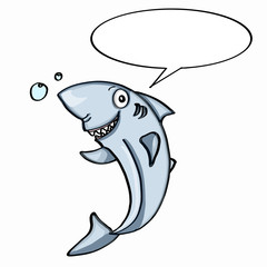 cute shark and speaking