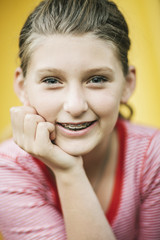 Portrait of Pre-Teen Girl