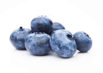 Fresh healthy organic blueberry on white