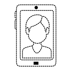 smartphone device with contact picture