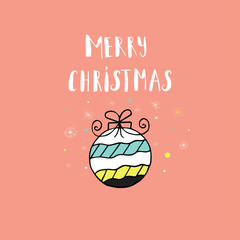 Merry Christmas cute greeting card