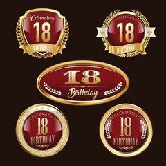 Premium Set of Anniversary Badges.
