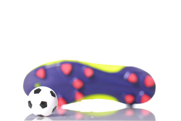 soccer shoes and soccer ball