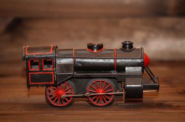 Alte Spielzeug Lok, Dampflokomotive