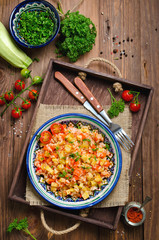 Rice pilaf with vegetables