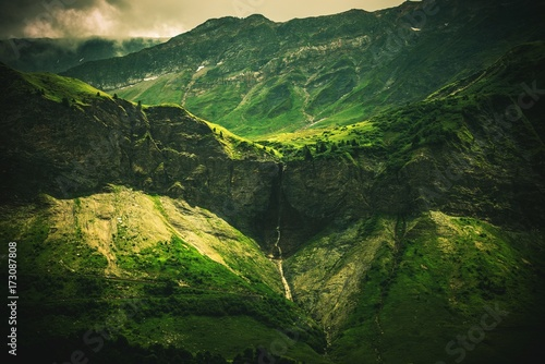 Wall mural Alpine Waterfall Scenery