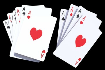 Gaming Poker Cards Isolated