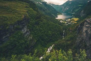 Wall Mural - Geiranger and Geirangerfjord
