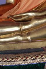 Golden Buddha taking the earth to witness. Wat Pho - Wat Phra Chettuphon. 1788. Bangkok.