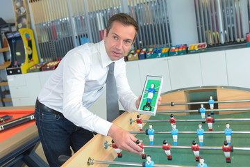 table football salesman