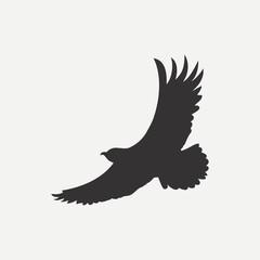 Eagle icon. Logo template. Bird of predator. Vector illustration.