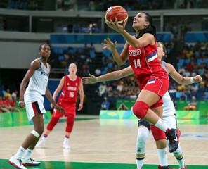 Olympics: Basketball-Women's Team-Bronze medal match -FRA vs SRB
