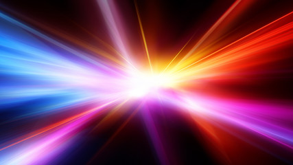 Bright flash. Abstract motion blur background with power explosion