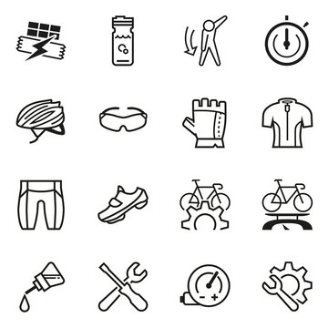 Preparing yourself for a bike ride icon concept. Bicycle maintenance. Enjoyable exercise experience.