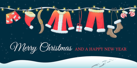 Wall Mural - merry christmas greeting card