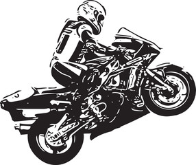 Extreme motocross racer by motorcycle