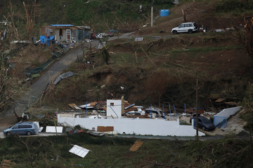 Damaged houses are seen after the area was hit by Hurricane Maria in Yabucoa