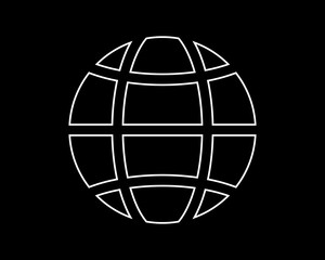 web globe thin line icon