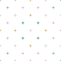 seamless colorful glitter pattern on white background