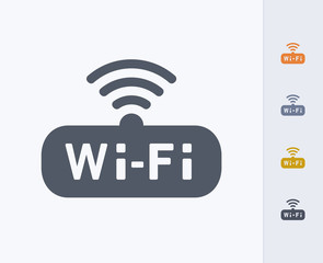 WiFi Badge - Carbon Icons. A professional, pixel-perfect icon designed on a 32 x 32 pixel grid and redesigned on a 16 x 16 pixel grid for very small sizes.