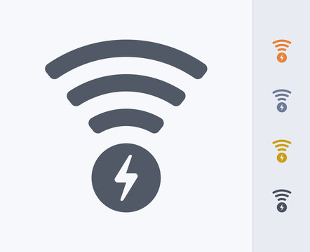 Wireless Charging - Carbon Icons. A professional, pixel-perfect icon designed on a 32 x 32 pixel grid and redesigned on a 16 x 16 pixel grid for very small sizes.