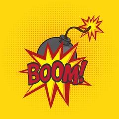 Cartoon comics bomb vector illustration. Comic book style imitation