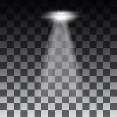 Spotlights scene light effects. Stage light spotlight vector. Vector illustration