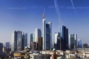 Frankfurt am Main city skyline in daylight