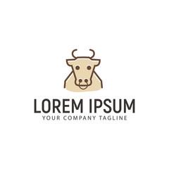 Cow outline Logo design concept template