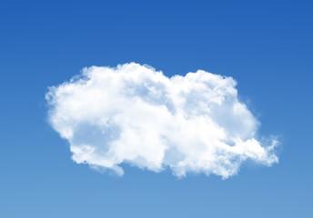 Single cloud in the deep blue gradient sky
