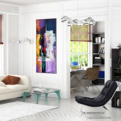 Konzept Einer Wohnzimmereinrichtung Focus