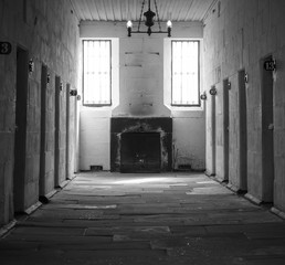 Cells in the old prison, Port Arthur