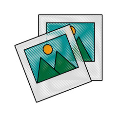 Pictures of landscape icon vector illustration graphic design