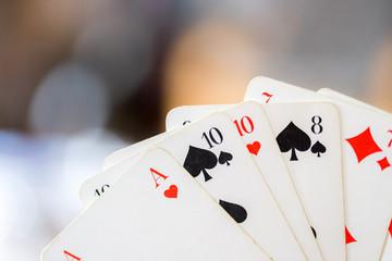 Spielkarten, Hintergrundunschärfe