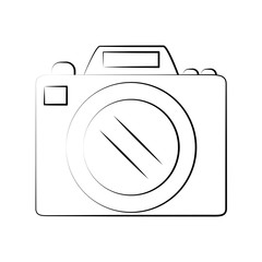 Photographic camera symbol icon vector illustration graphic design