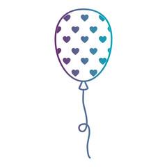 balloon air party decoration vector illustration design