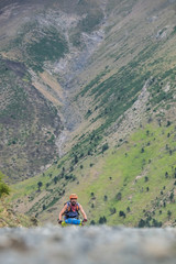 Man riding downhill