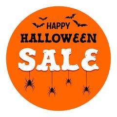 Halloween Sale Banner, Vector Illustration