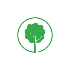 geen tree letter p logo