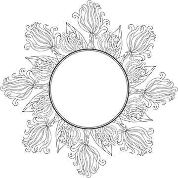 ylang-ylang, round frame 1