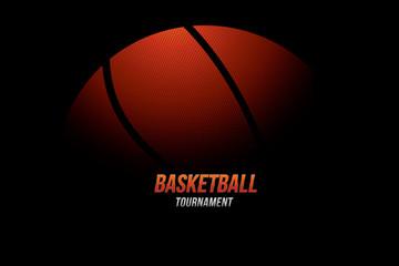 Basketball tournament design background. Vector illustration